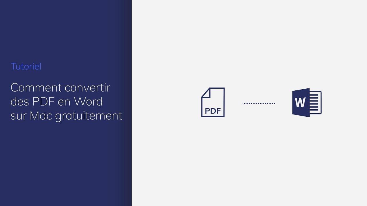 convertir pdf en word mac