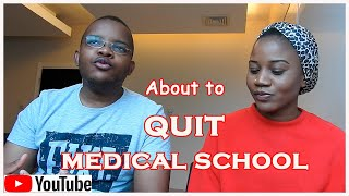 About to Quit Medical School || DoctorCurly (serious)