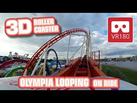 3D VR180 amazing Looping Roller Coaster | intense VR POV | Munich Olympia Looping | Oculus GO Rift