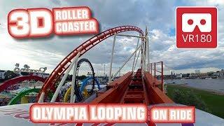 VR180 3D Munich Olympia Looping Achterbahn | VR Roller Coaster onride POV |  Rheinkirmes Düsseldorf