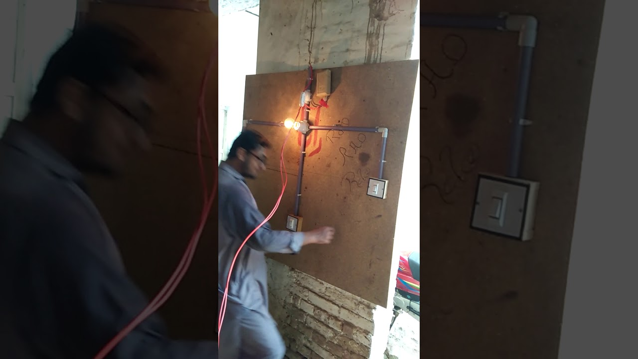 Staircase Wiring Circuit Diagram How To Control A Lamp From Two Stairs Different Places By