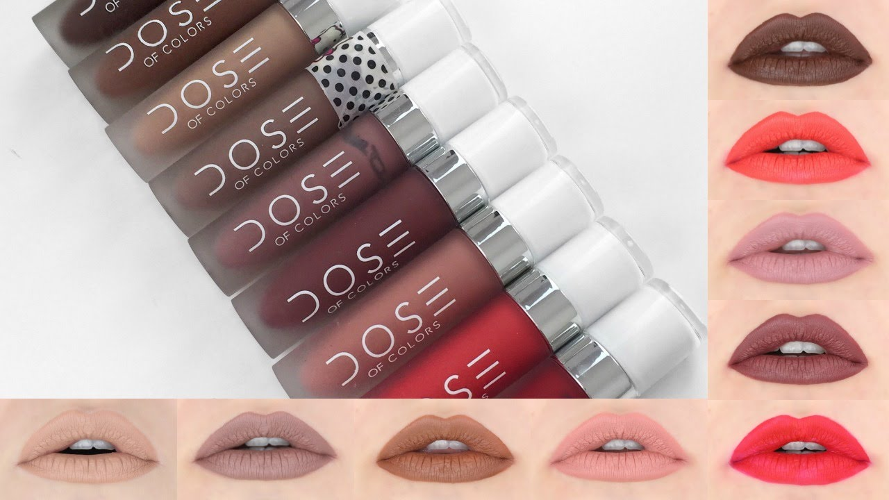 DOSE OF COLORS Liquid Lipstick | Lip Swatches + Review