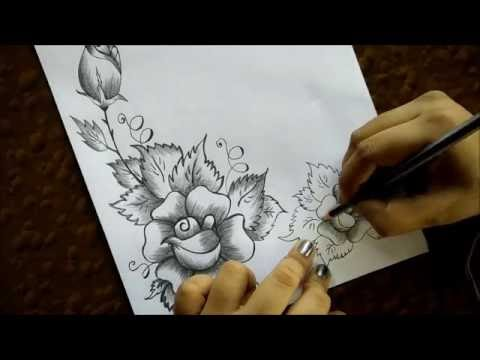 How To Make A Greeting Card With Pencil Sketch - YouTube