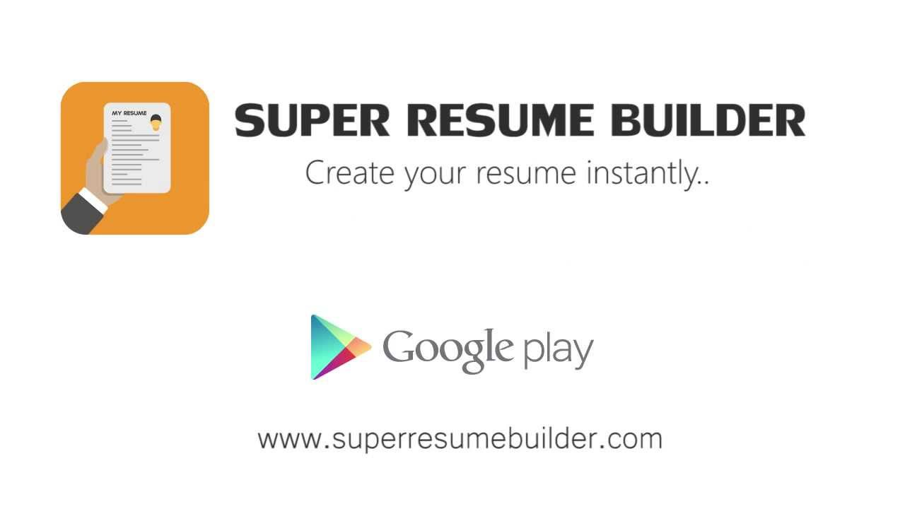 Super Resume Builder YouTube