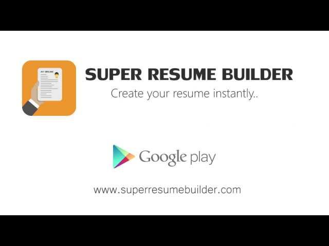 Resume Builder on phone - Super Resume - ReadMeNow
