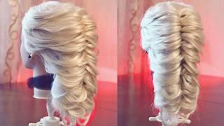 Ложная коса на резинках | Авторские причёски | Лена Роговая | Hairstyles by REM | Copyright ©