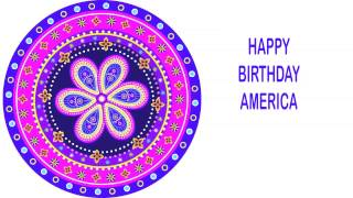 America   Indian Designs - Happy Birthday