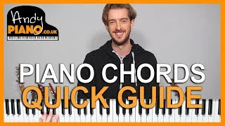 PIANO CHORDS for Beginners PLUS 3 SONGS!! (Tutorial)
