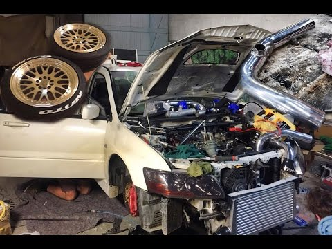 Evo 8 Build part 6 - FINAL THINGS! new tyres, I/C piping, welding
