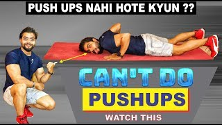 How To Do Push-ups For Beginners || TOP 3 MISTAKES IN PUSH-UPS ||