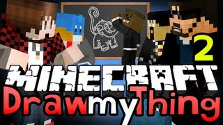 Minecraft DRAW MY THING 2!! OFFICER NIPPLES! (Jerome, Bajan, Husky and Antvenom)