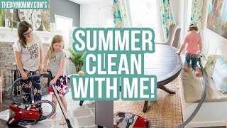CLEAN WITH ME | My ONE Trick to Getting the House Clean This Summer!