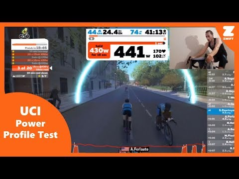 ZWIFT - UCI Power profile test ( Replacing Day 5 Pirate Pedaling )