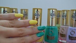 Обзор лаков для ногтей Эмаль Gel Effect желтый 897 и зеленый 896