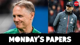 Joe Schmidt's legacy | 'Bitter' Klopp | GAA set for a fall? | Monday's Papers