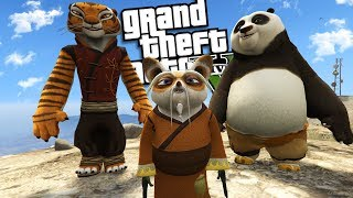 "KUNG FU PANDA ""Master Shifu"" MOD (GTA 5 PC Mods Gameplay)"