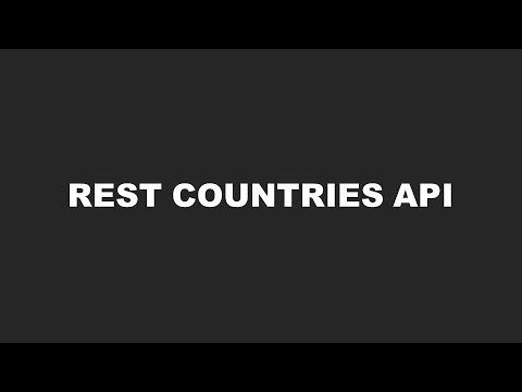 REST Countries API