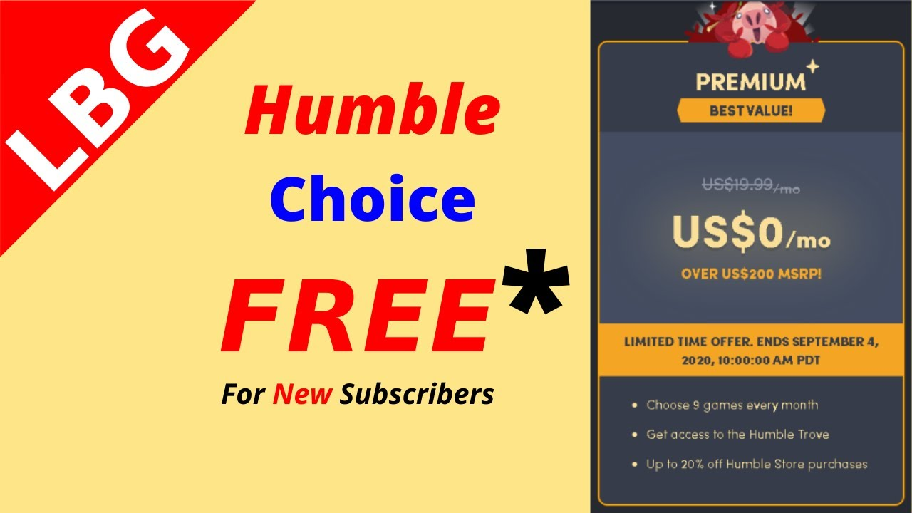 How To Get Humble Choice For FREE !!
