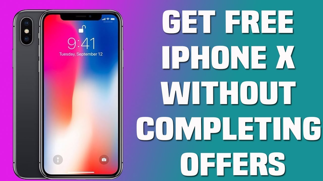 Get free iphone x without completing offers   iPhone x free giveaway