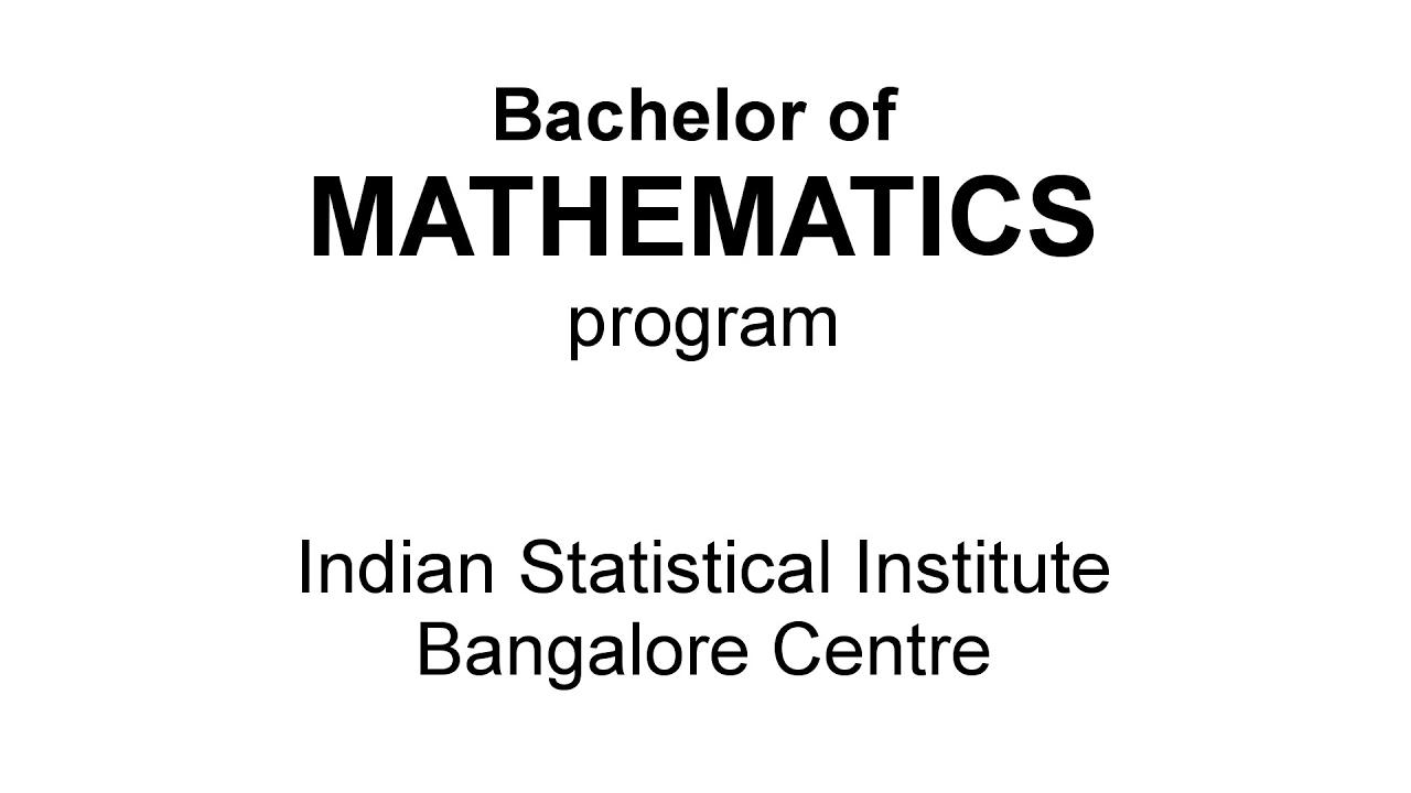 BMath Program | Indian Statistical Institute Bangalore
