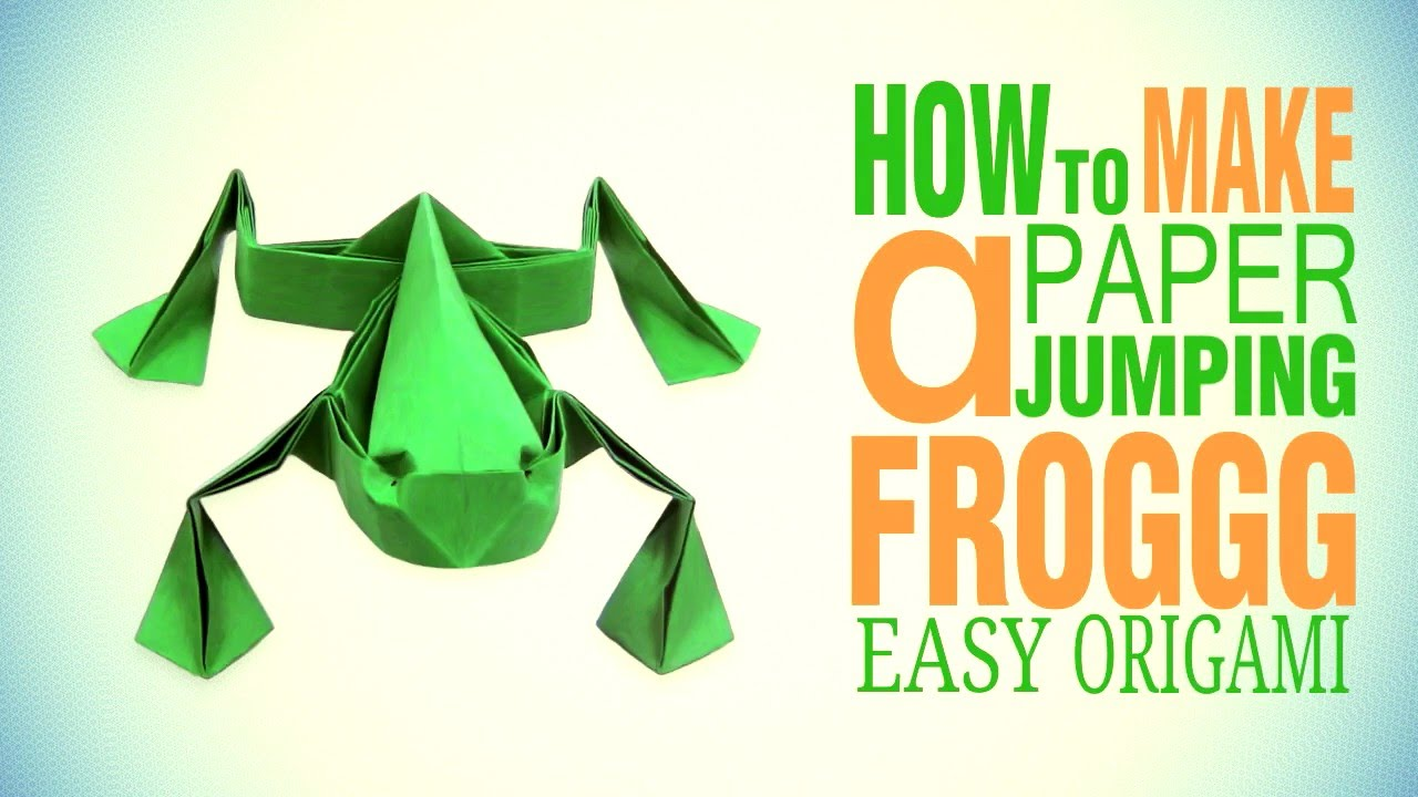 Make origami a croaking frog Royalty Free Vector Image | 720x1280