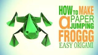 Cool Origami Frog jumping | como fazer um sapo origami - Origami easy tutorial
