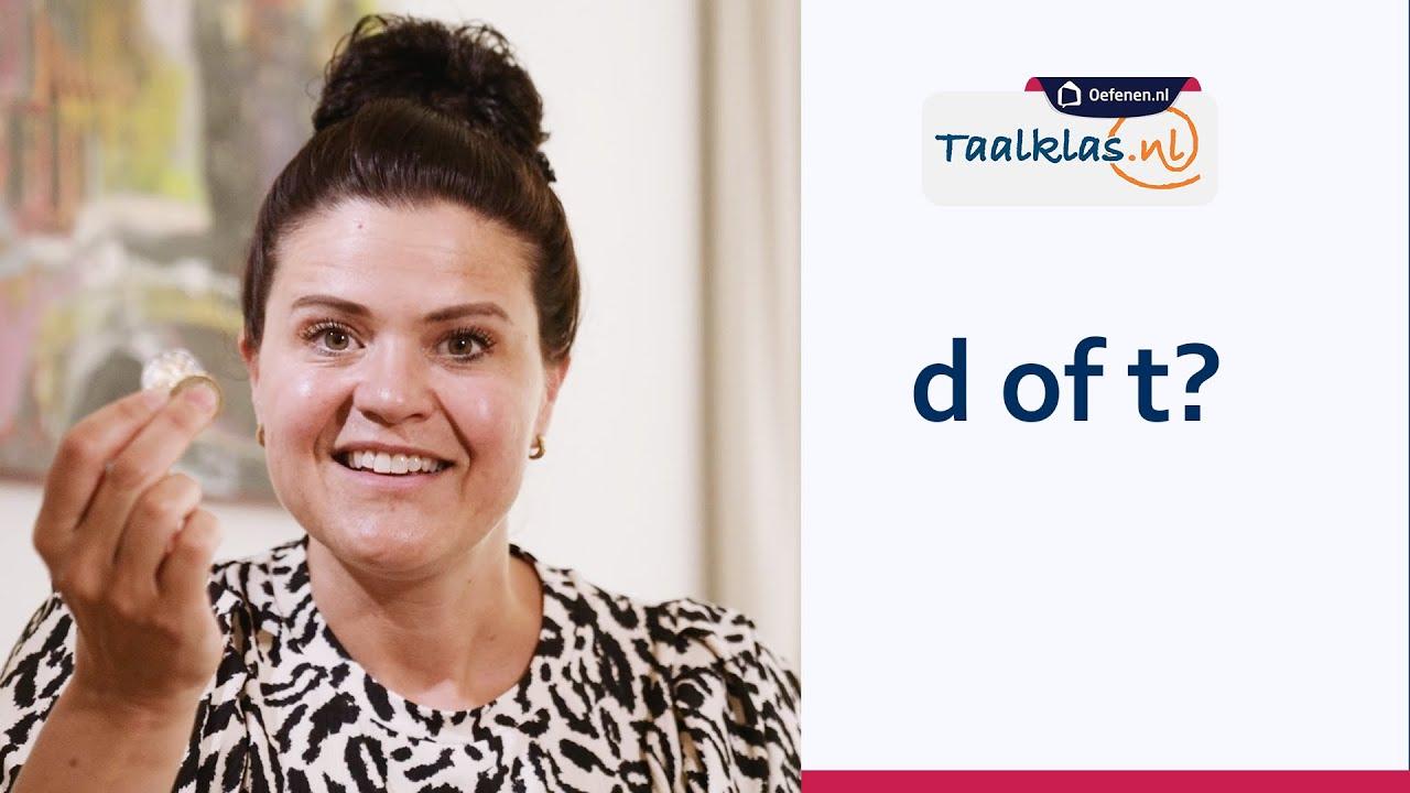 Download NT2 Taaltip Taalklas.nl | Wanneer schrijf je een D of T?