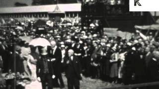 King George V and Queen Mary at 1920s UK Country Fair, Archive Footage