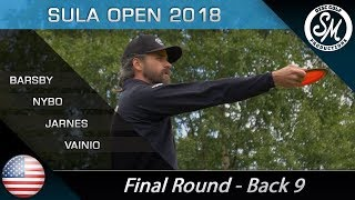 Sula Open 2018 | Final Round  Front 9 | Barsby, Nybo, Jarnes, Vainio *English*