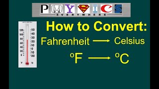 How to convert degrees Fahrenheit to degrees Celsius. Converting F to C.