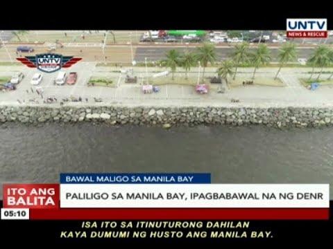 Paliligo sa Manila Bay, ipagbawal na ng DENR