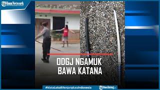 Viral Polisi Ramai-ramai Taklukkan ODGJ Ngamuk Bawa Katana