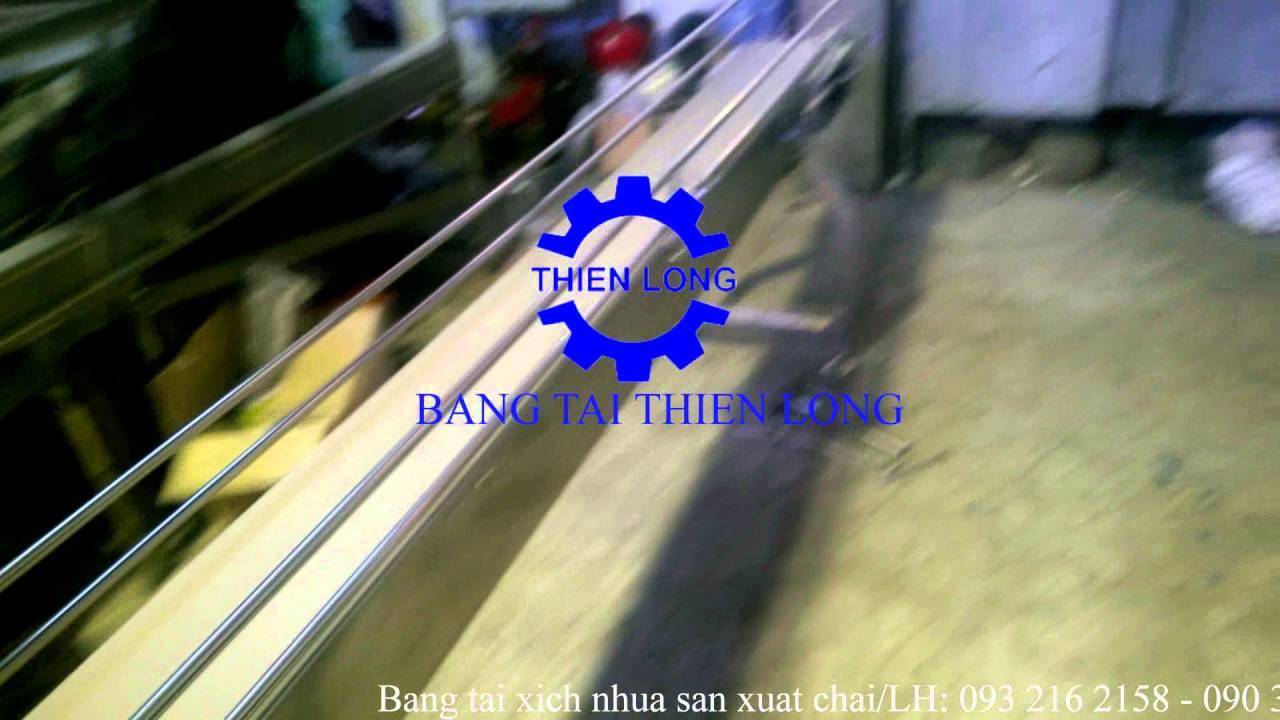 Băng tải xích nhựa sản xuất chai – Sản phẩm của BĂNG TẢI THIÊN LONG