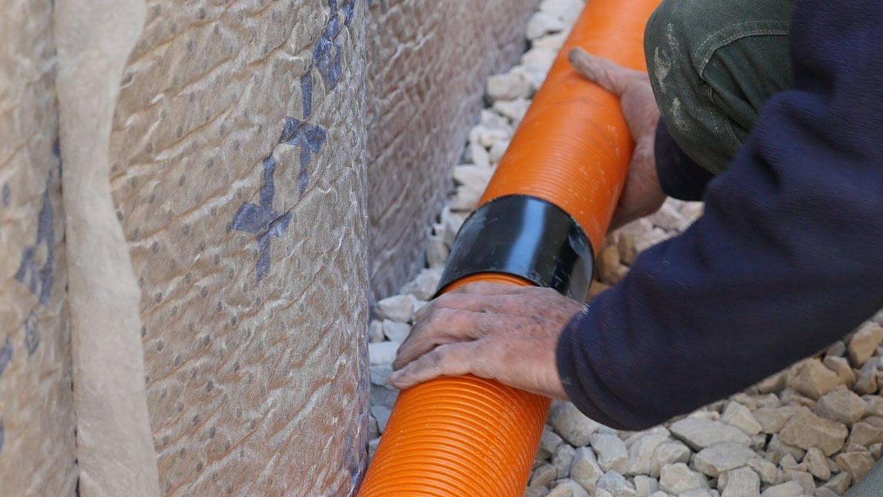 Drainer ma maison pt3 pose des drains optidrain et remblaiement étancheité humidité drainage youtube