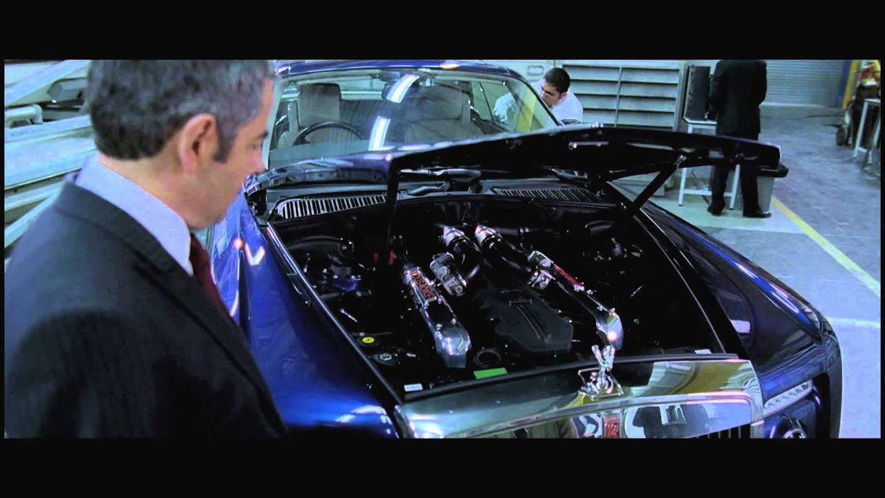 hight resolution of rowan atkinson on his experience with the johnny english rolls royce
