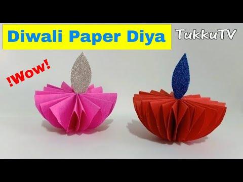 Diwali Paper Diya   How To Make Diwali Diya At Home With Paper