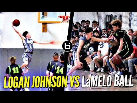 Thumbnail: Logan Johnson vs. LaMelo Ball - Lopsided Game Gets Heated!