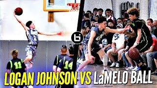 Logan Johnson vs. LaMelo Ball - Lopsided Game Gets Heated! Tyler Johnson