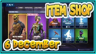 Fortnite ITEM SHOP December 6th all new SKINS and EMOTES-Playr NINE-English Fortnite EN