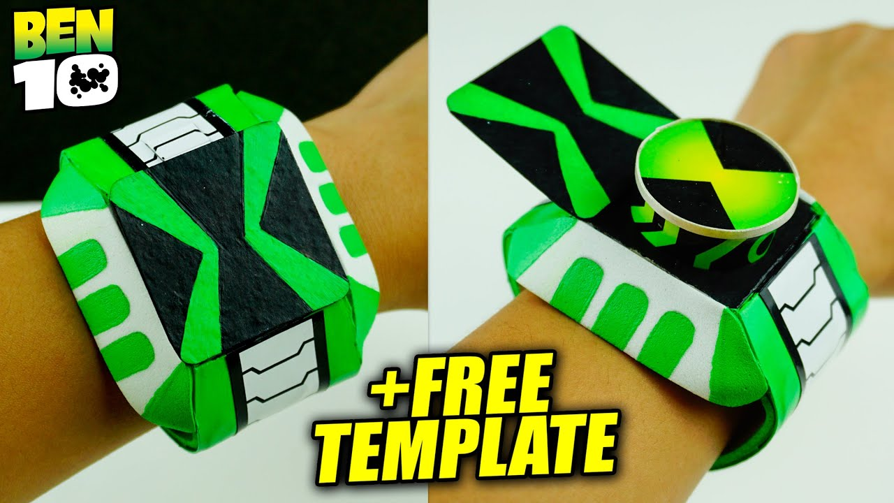 DIY How To Make Ben 10 Omniverse Omnitrix +FREE TEMPLATE | Functional Alien Omnitrix Easy Craft!