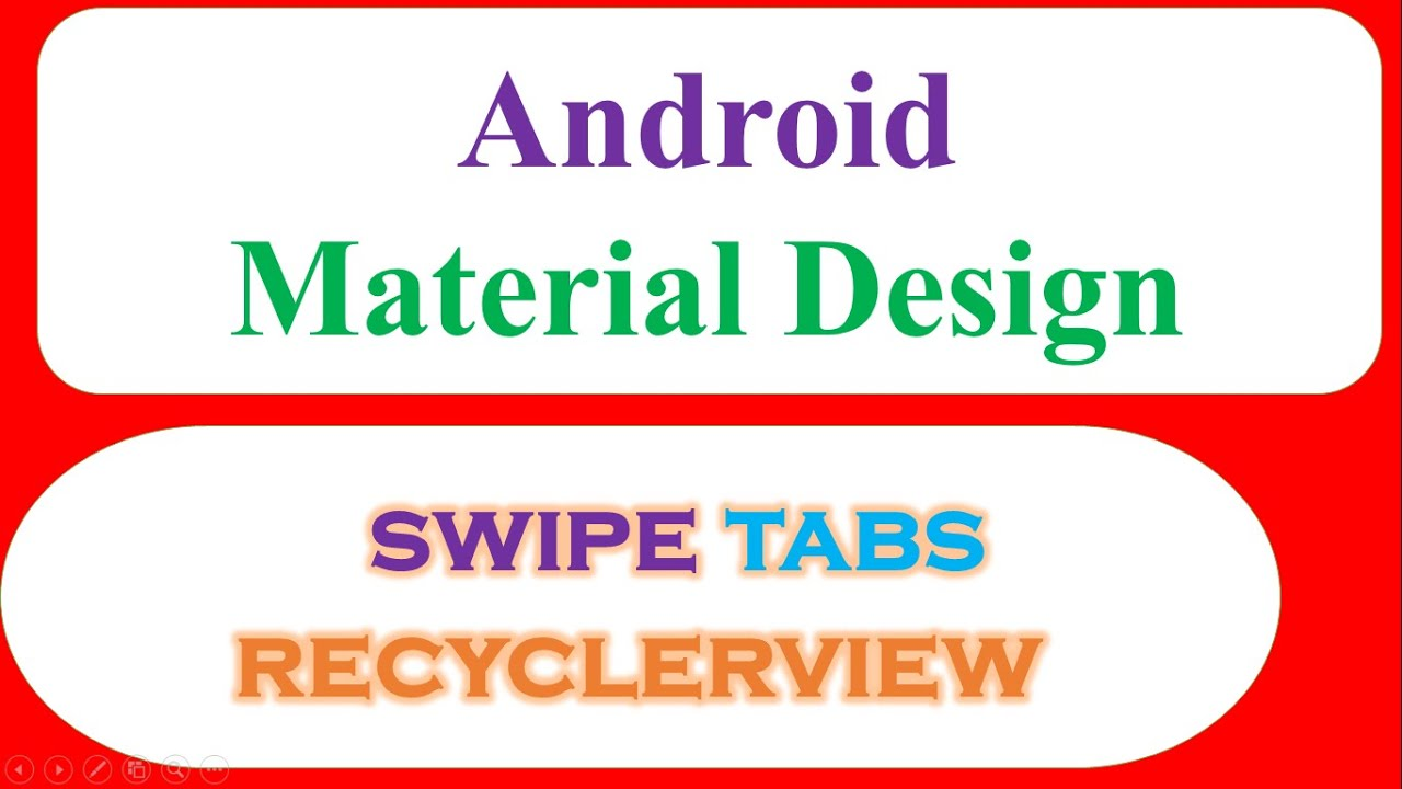 Material Swipe Tabs Viewpager - Fragments With Custom RecyclerViews