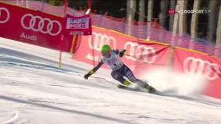 Чудовищное падение итальянской горнолыжницы, передаю