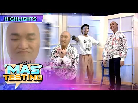 Chad Kinis wears stockings over his face as FUNishment |  It's Showtime Mas Testing