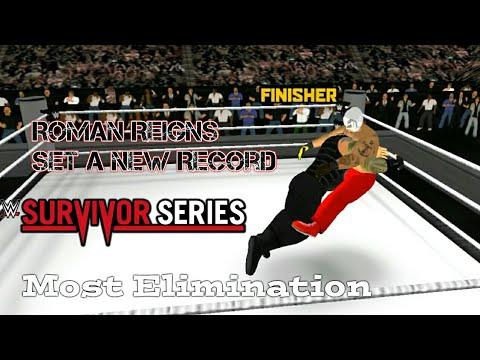 Roman Reigns set a new record Elimination in survivor series - Wr3d