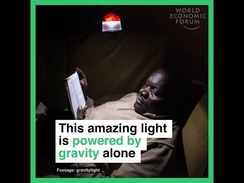 This amazing light is powered by gravity alone