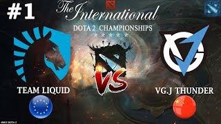 ПЛ против ЛЕШРАКА! | Liquid vs VGJ.Thunder #1 (BO2) | The International 2018