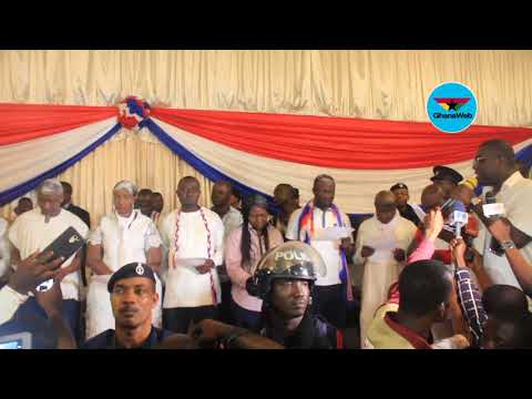 Sammy Awuku swears-in newly elected NPP Greater Accra Regional executives