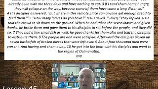 Lesson 45  Mark 8:1-10  August 12, 2020