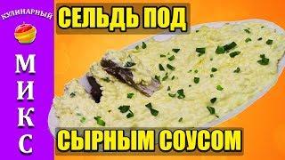 Закуска из селедки в сырном соусе. Вкусный и простой рецепт. 🔥