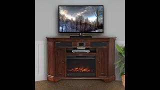 Winsome Corner TV Stand With Fireplace
